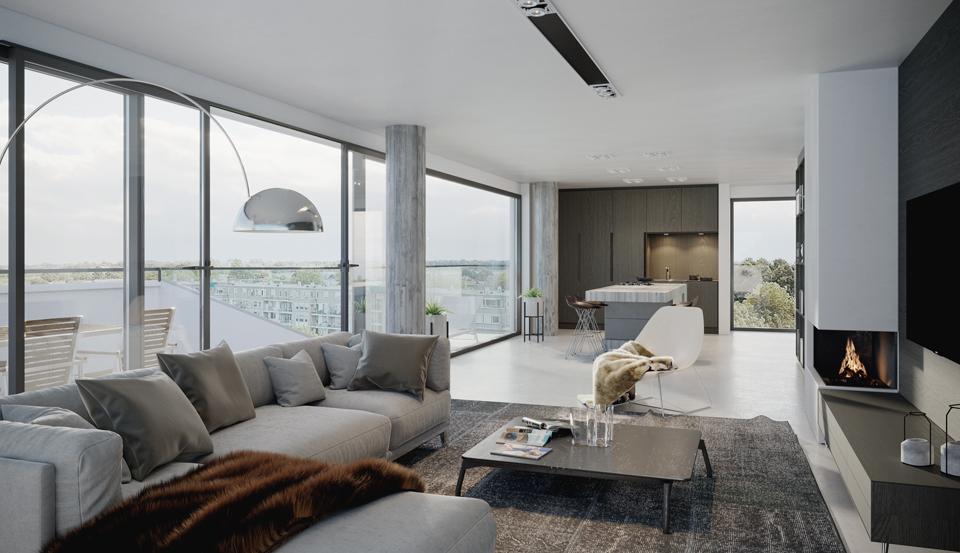6 appartementen tot 163 m2